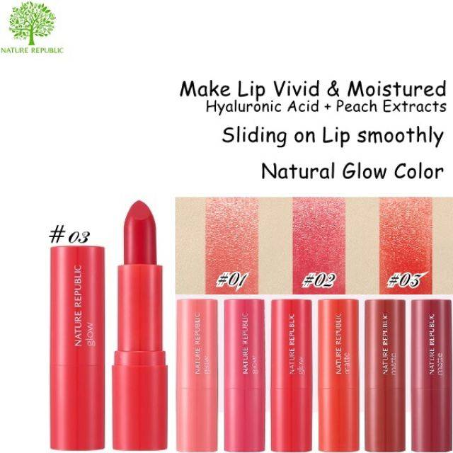Nature Republic Pure Shine Lip Stick 3.5g - Glow (NRL-27G)
