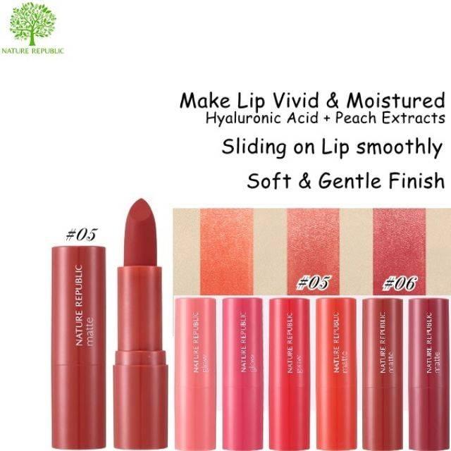 Nature Republic Pure Shine Lip Stick 3.5g - Matte (NRL-27M)