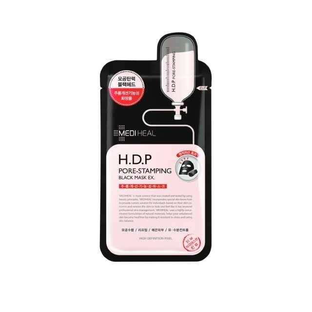 Mediheal H.D.P Pore-Stamping Black Mask(Buy 10,000 ks >> Get Tea Tree Care Soluction Mask( 1 ) Pcs)