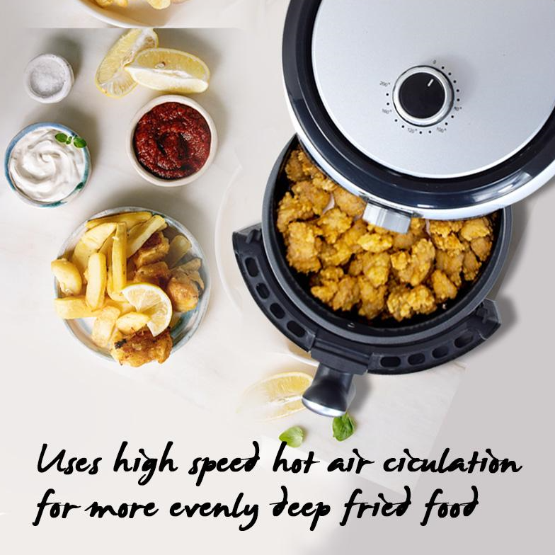 PowerPac Air Fryer 2.2L with hot air flow system (PPAF636)