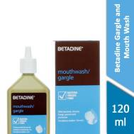 Betadine Gargle & Mouth Wash 120 ml ( Gift - Mask )