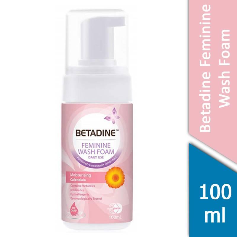 Betadine Feminine Wash Foam Daily Use Moisturizing Calendula 100 ml