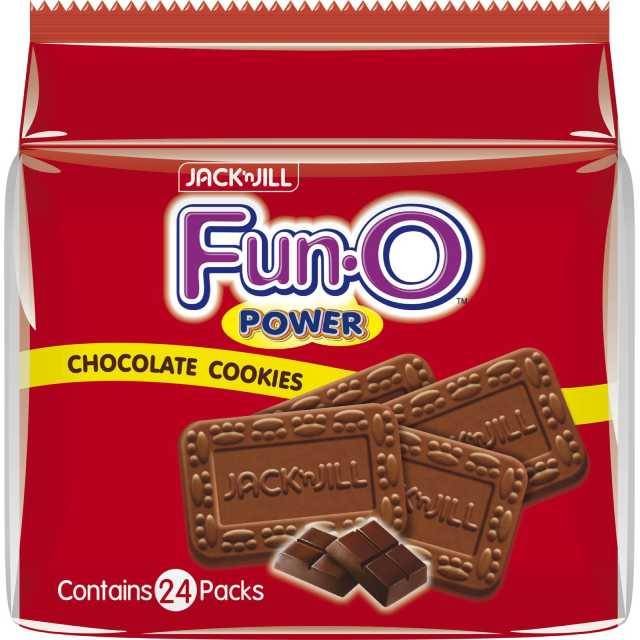 Fun O Power Chocolate Biscuits  25g x 24 packs