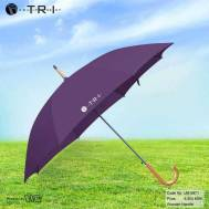 TRI Wooden Handle Umbrella - Violet ( UM-0871 )