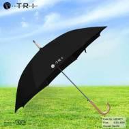 TRI Wooden Handle Umbrella - Black ( UM-0871 )