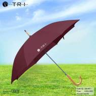 TRI Wooden Handle Umbrella - Dark Red ( UM-0871 )
