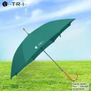 TRI Wooden Handle Umbrella - Green ( UM-0871 )