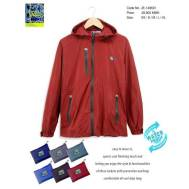 TRI Two Layers Rain Jacket [ Dark Blue, Nude Brown, Gray, Light Blue, Brown, Red ]  (JE-149601)