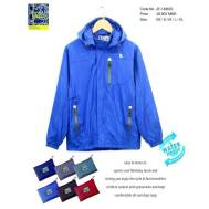 TRI Two Layers Rain Jacket [ Dark Blue, Nude Brown, Gray, Light Blue, Brown, Red ] (JE-149602)