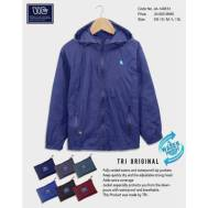 TRI Two Layers Rain Jacket [ Dark Blue, Nude Brown, Gray, Light Blue, Brown, Red ] (JE-149613)