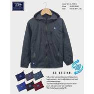 TRI Two Layers Rain Jacket [ Dark Blue, Nude Brown, Gray, Light Blue, Brown, Red ] (JE-149614)