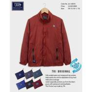 TRI Two Layers Rain Jacket [ Dark Blue, Nude Brown, Gray, Light Blue, Brown, Red ] (JE-149615)