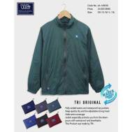 TRI Two Layers Rain Jacket [ Dark Blue, Nude Brown, Gray, Light Blue, Brown, Red ] (JE-149616)