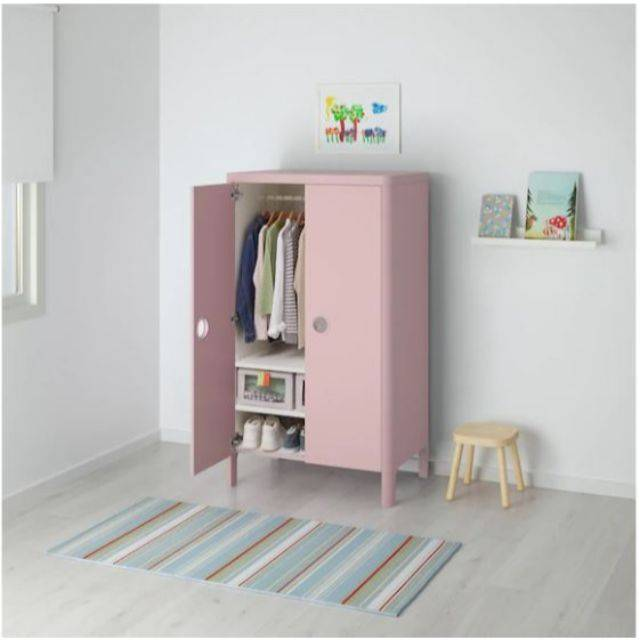 IKEA BUSUNGE (Wardrobe, light pink) (803.513.53)