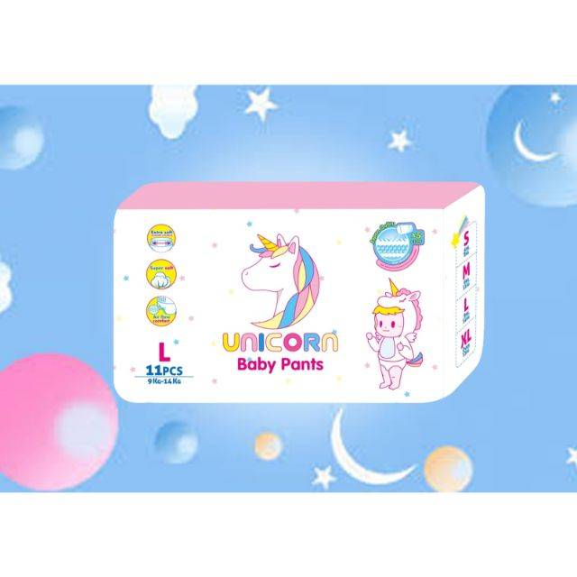 UNICORN Baby Pants Dispers (L-11Pcs) (Buy (10) Get (1) (Same Item) )