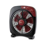 PowerPac 12 Inch Electric Box Fan, Desk, Table Fan with Timer (PPBF30)