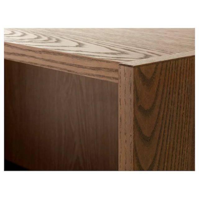 IKEA BILLY / OXBERG (Bookcase with glass door, brown ash veneer) (291.844.85)