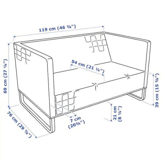 IKEA KNOPPARP (2-seat sofa, knisa light grey) (904.246.22)