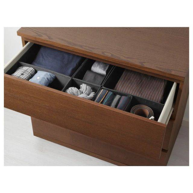 IKEA MALM (Chest of 3 drawers,  brown stained ash veneer) (903.546.57)
