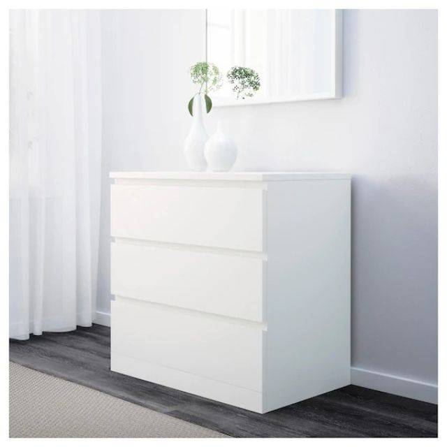 IKEA MALM (Chest of 3 drawers,  white) (903.546.43)