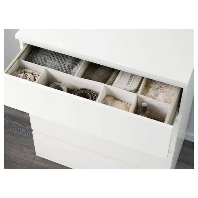 IKEA MALM (Chest of 4 drawers,  white) (203.546.46)