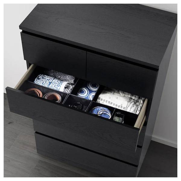 IKEA MALM (Chest of 5 drawers, black brown) (603.546.25)