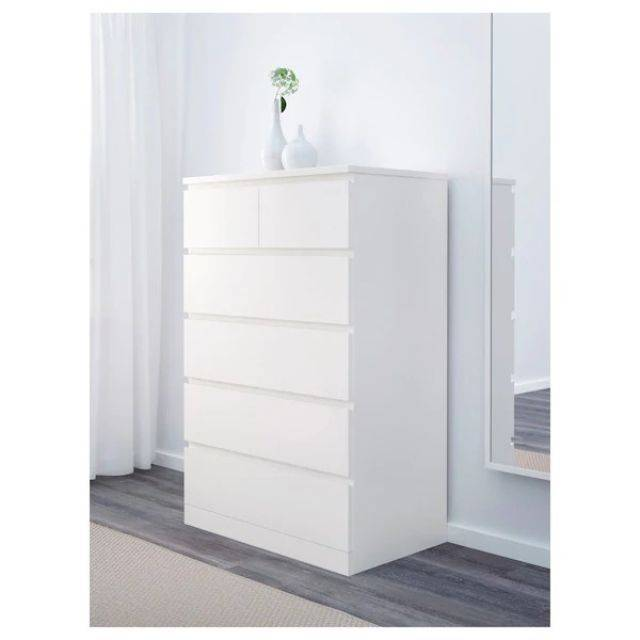 IKEA MALM (Chest of 5 drawers,  white) (403.546.45)