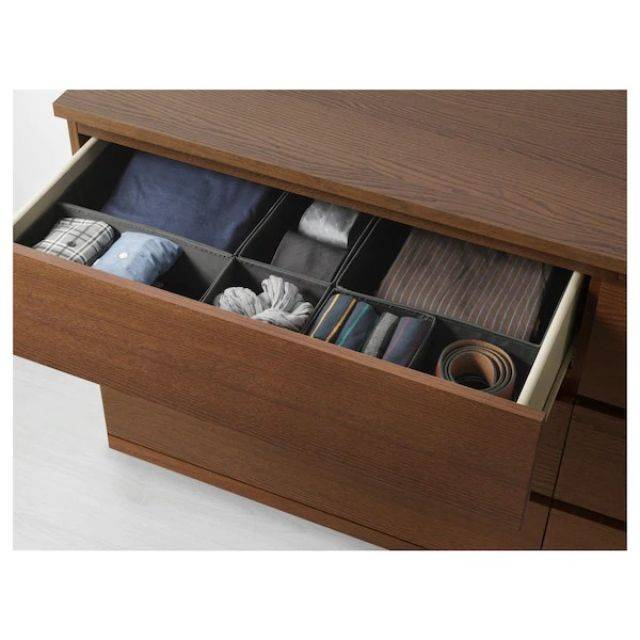 IKEA MALM (Chest of 6 drawers,  brown stained ash veneer 2) (703.546.63)