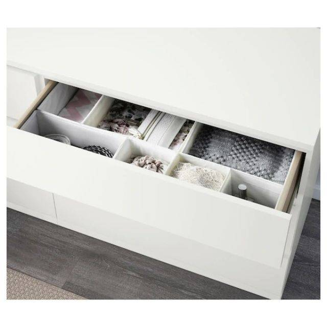 IKEA MALM (Chest of 6 drawers,  white 2) (703.546.44)