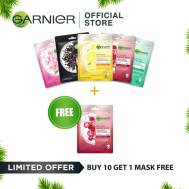 Garnier 5 Serum Mask Bundles ( Light Complete, Sakura, Hydra Bomb, Charcoal, Ageless White) ( Light Complete, Sakura, Hydra Bomb, Charcoal, Ageless White)