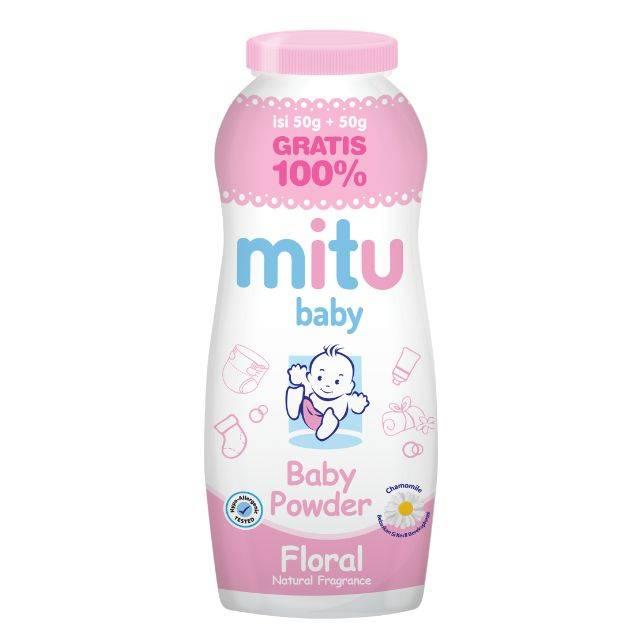MITU BABY POWDER BOTTLE 50GR (PINK)