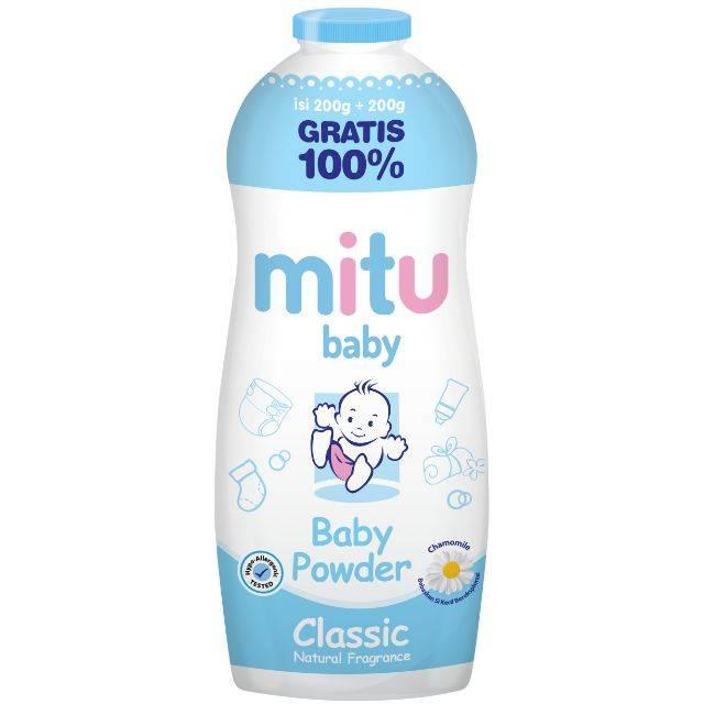 MITU BABY POWDER BOTTLE 200GR (BLUE)