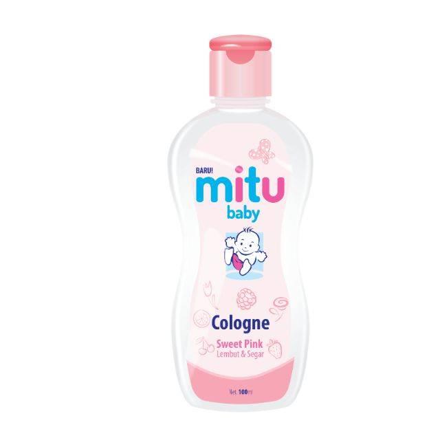 MITU BABY COLOGNE BOTTLE 100ML (PINK)