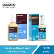 Betadine Gargle & Sore Throat Spary (Oral Combo) (120 ml & 50 ml)