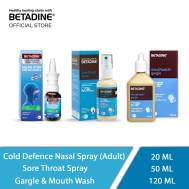 Betadine Sore Throat Spary , Betadine Cold Defence Nasal Spary Adult, Betadine Gargle & Mouth Wash (50 ml, 20ml, 120 ml)