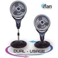 "iFan 12 Inch ""Power Fan"" & High Velocity Fan, Air Circulator Stand Fan (IF9669)"