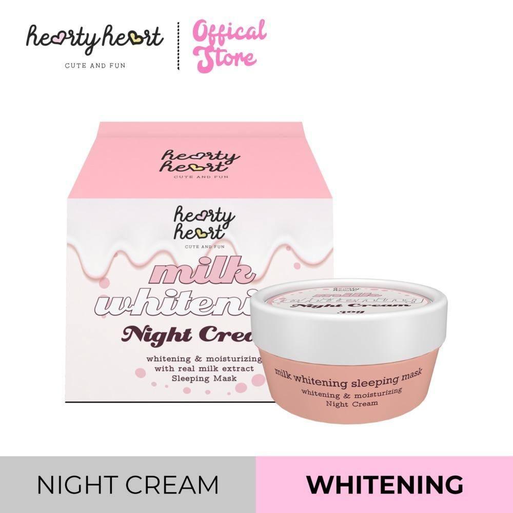 Hearty Heart Milk Whitening Night Cream