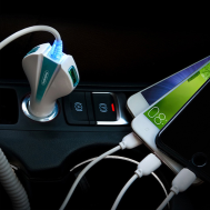 4.1A Fast Charging Car Charger With Three Usb Ports and Plug Lighter