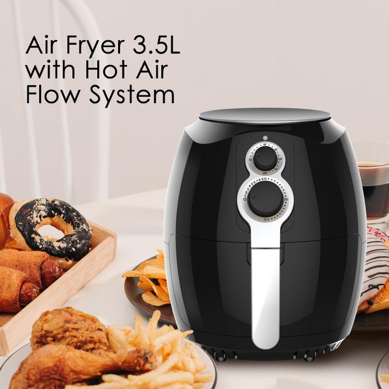 PowerPac Air Fryer 3.5L with Hot Air Flow System (PPAF608)