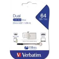 Verbatim Store 'n' OTG Micro Drive 3.0 - 64GB (Product Code-49827)