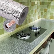 Selfiee Aluminum Foil Kitchen Oil Proof Water Proof Stickers (2'x7')