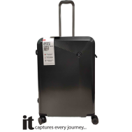 it Luggage Confide Charcoal Carbon Effect (Largel) 018010403