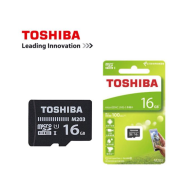 Toshiba micro SDHC card 16GB U1 Class 10 100MB/s - (Gift- SD Adapter + Plastic Case)