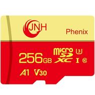 JNH Micro SD card 256GB Class10 UHS-1 A1 U3 V30 4k Ultra - (Free gift: Li507 dual cable)