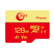 JNH Micro SDXC 128GB Class 10 U3 V30 A1 4K Ultra HD - (Free gift: Li507 dual cable )