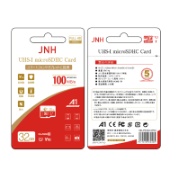 JNH Micro SDHC 32GB 100MB/s C10 UHS1 A1 V10 - (Gift- SD Adapter + Plastic Case)