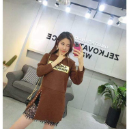 Selfiee Elastic Mini Dress With Gold Bar
