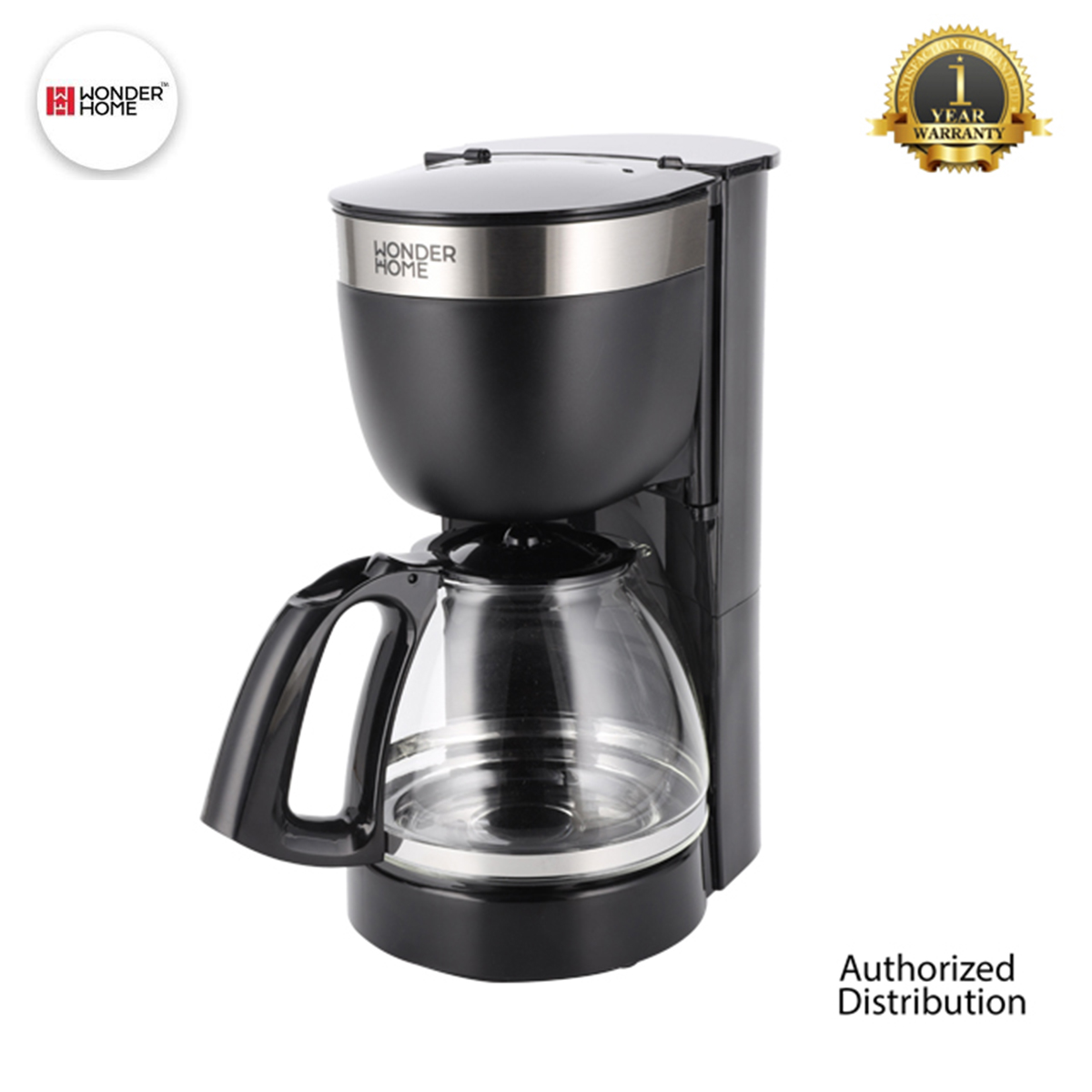 WONDER HOME Filter Drip Coffee Maker 1.25 Liter (WH-CM-125L)