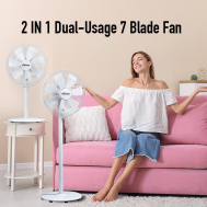 PowerPac 2 in 1 Dual-Usage 7 Blades Fan (PPFS212)
