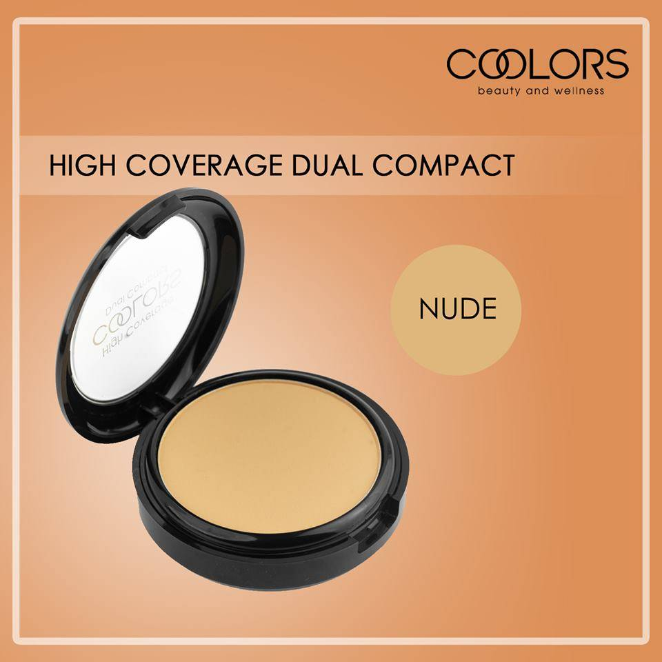 COOLORS Dual Compact Powder Nude 10g (LSM78)